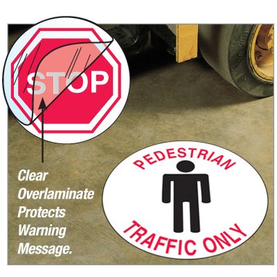 Anti-Slip Safety Floor Markers - Pedestrian Traffic Only