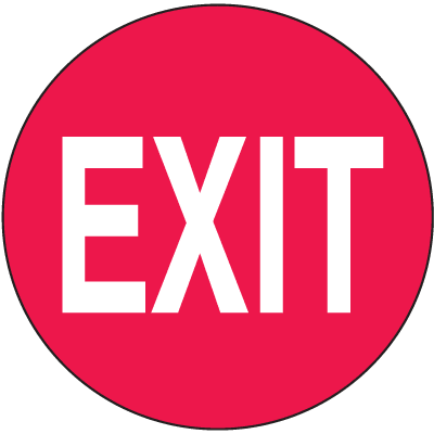 Anti-Slip Safety Floor Markers - Exit