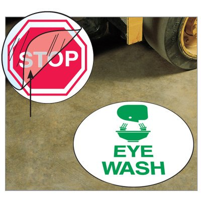 Anti-Slip Safety Floor Markers - Eye Wash
