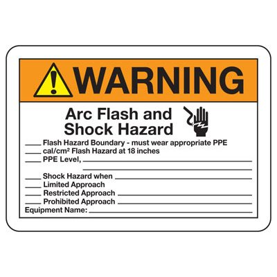 Warning Arc Flash And Shock Hazard - Electrical Safety Sign