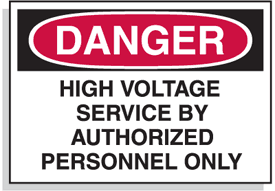 Baler Safety Labels - Danger High Voltage