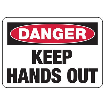 Baler Safety Signs - Danger Keep Hands Out
