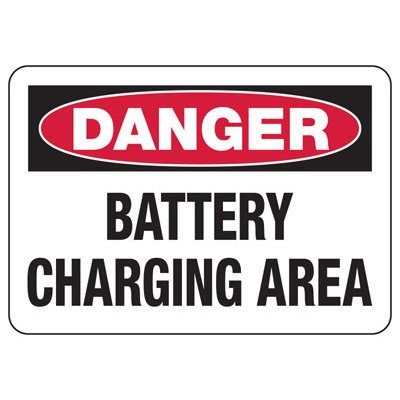 Forklift Safety Signs - Danger Battery Charging Area