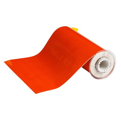 BBP®85 Series Label: Vinyl, Orange, 10 in W x 50 ft L
