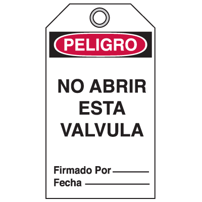 Bilingual Accident Prevention Tags - Danger/Peligro