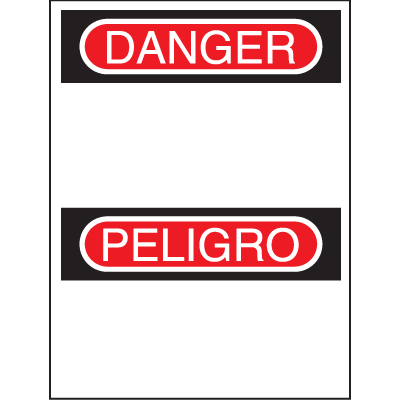 Bilingual Safety Signs - Danger/Peligro