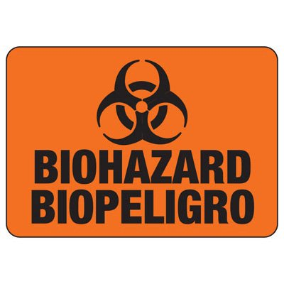 Biohazard Biopeligro - Bilingual Biohazard & Emergency Signs