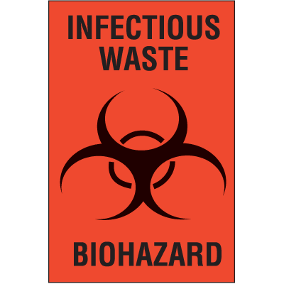 Infectious Waste Biohazard Labels