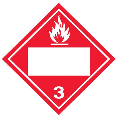Blank D.O.T. Placards - Flammable/Combustible