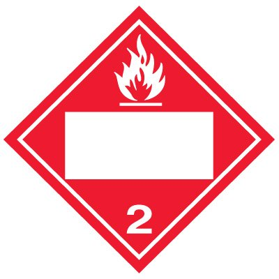 Blank D.O.T. Placards - Flammable Gas