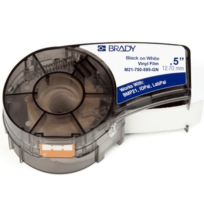 Brady M21-500-430 BMP21 Plus Label Cartridge - Black on Clear