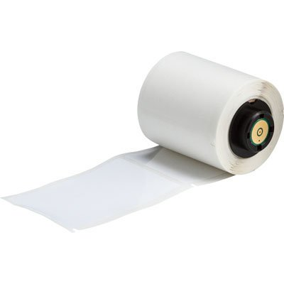 BMP®71 TLS 2200® Series ToughBond® Label: Polyester, White, 1.9 in H x 3 in W