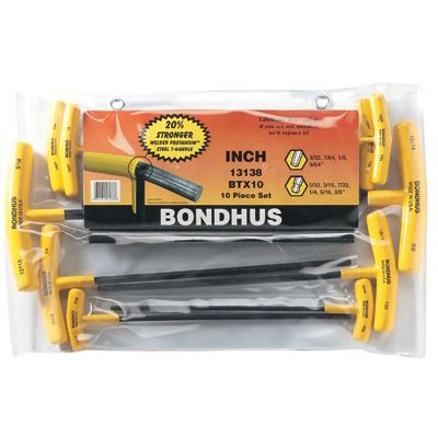 Bondhus® - Balldriver® T-Handle Hex Key Sets 13138