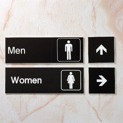 Boys - Small Engraved Restroom Signs