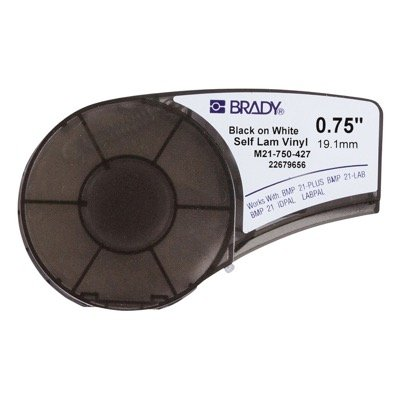Brady M21-750-427 BMP21 PLUS Label Cartridge - Black on White/Translucent