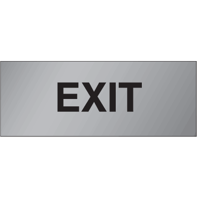 Brass & Aluminum Door Signs- Exit