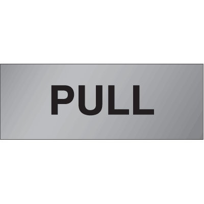 Brass & Aluminum Door Signs- Pull