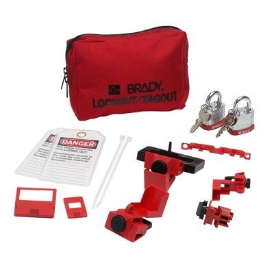 Brady Breaker Lockout Sampler Pouch With Brady Steel Padlocks & Tags - Part Number - 99297 - 1/Each