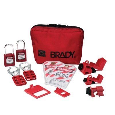 Breaker Lockout Sampler Toolbox Kit w/ 2 Keyed-Alike Safety Padlocks (105967) by Brady