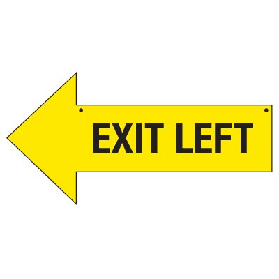 Bulk Arrow Signs - Exit Left