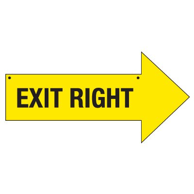 Bulk Arrow Signs - Exit Right