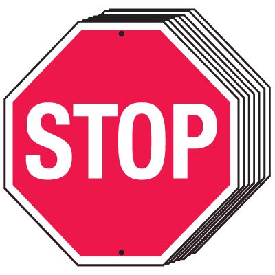 Bulk Warehouse Stop Signs - Stop