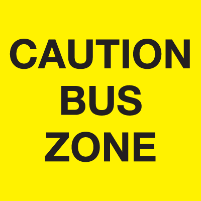 A-Frame Sign - Caution Bus Zone