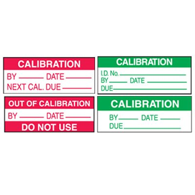 Calibration Write-On Labels