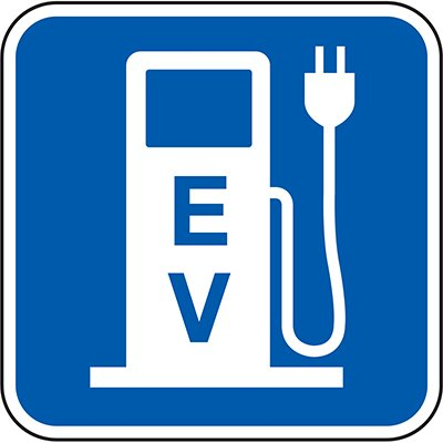 California Traffic & Parking Signs - EV Charging (Symbol)