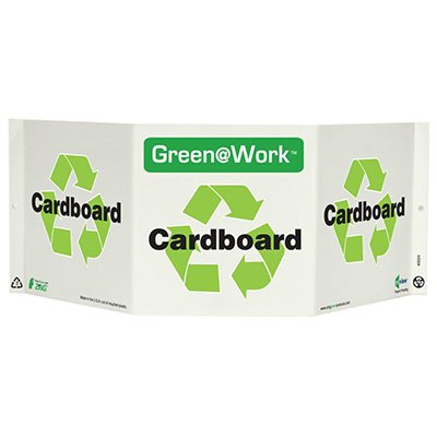 Cardboard Tri View Recycling Sign