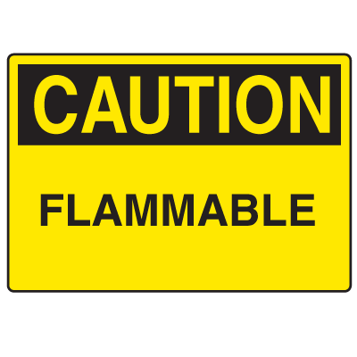 OSHA Caution Signs - Flammable