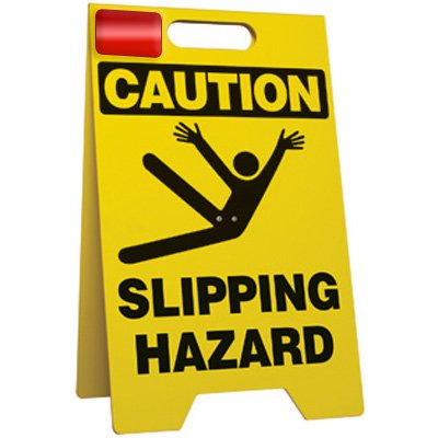 Caution Slipping Hazard - Floor Stand