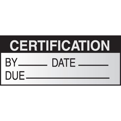 Certification Write on Labels