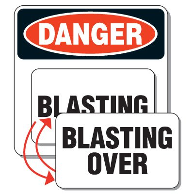 Changeable Magnetic Blasting Sign