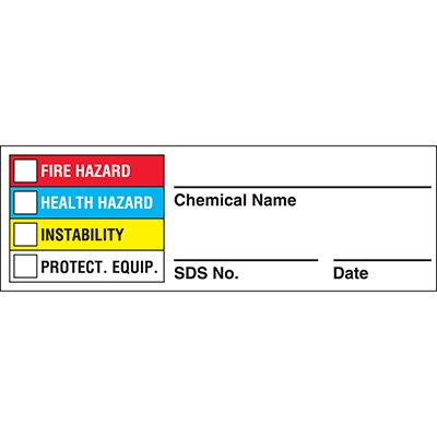 Chemical Hazard NFPA Label