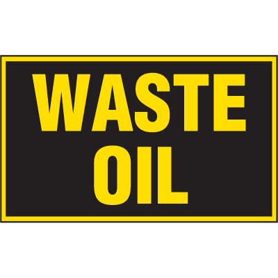Chemical Label Value Packs - Waste Oil