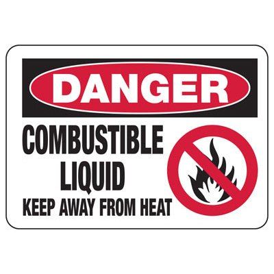 Chemical Signs - Danger Combustible Liquid