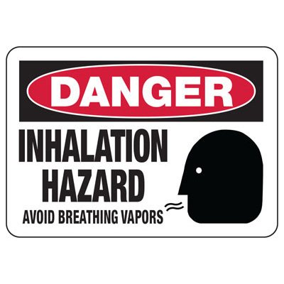 Chemical Signs - Danger Inhalation Hazard