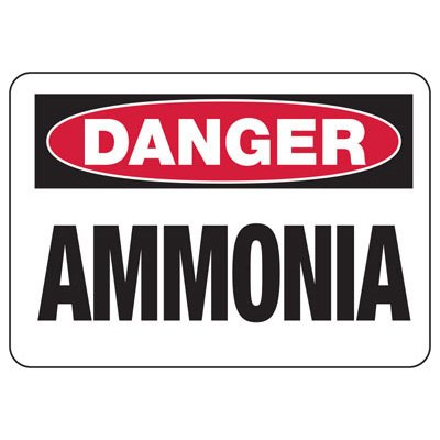 OSHA Danger Signs - Ammonia