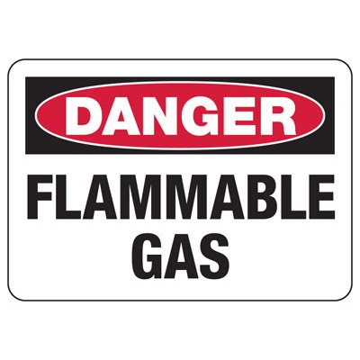 Danger Signs - Flammable Gas