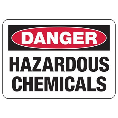 Chemical & HazMat Signs - Danger Hazardous Chemicals