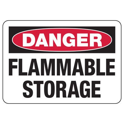 OSHA Danger Signs - Flammable Storage