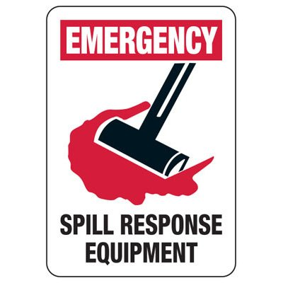 Chemical & HazMat Signs - Emergency Spill Response Equipment