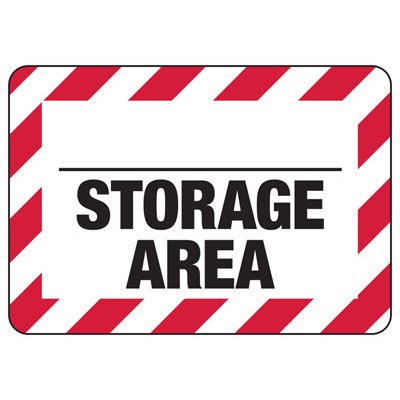 Blank Storage Area - Industrial Chemical Warning Sign