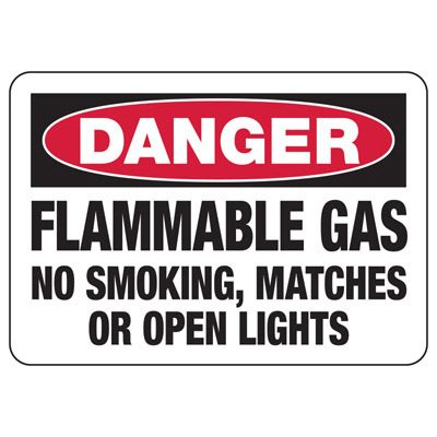 Danger Flammable Gas - Industrial Chemical Warning Sign