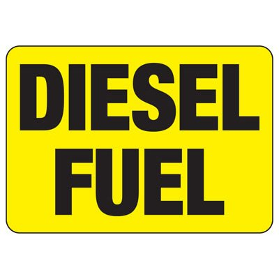 Diesel Fuel - Industrial Chemical Warning Sign