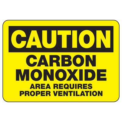 Caution Carbon Monoxide - Industrial Chemical Warning Sign