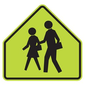 Child/School Safety Signs - School Crossing (Graphic)