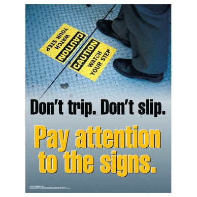 Clement Safety Posters - Don't Trip