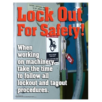 Clement Safety Posters - Lock Out For Safety